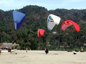 parasails on the beach